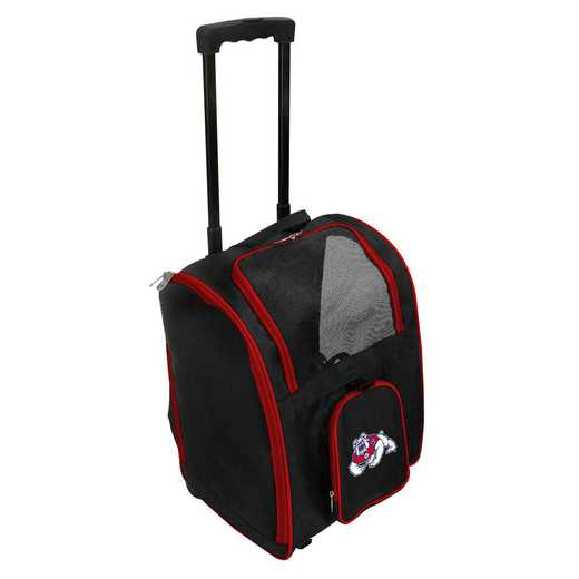 CLFRL902: NCAA Fresno ST Bulldogs Pet Carrier Premium bag W/ wheels